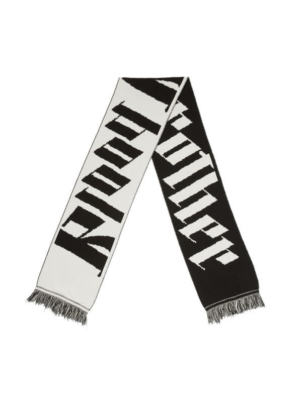 Dark Thames Scarf in Black and White