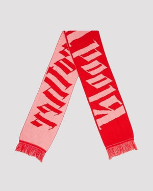 Dark Thames Scarf in Pink and Red