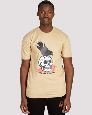Crow T-shirt in Stone