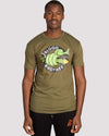 Snake T-shirt in Khaki