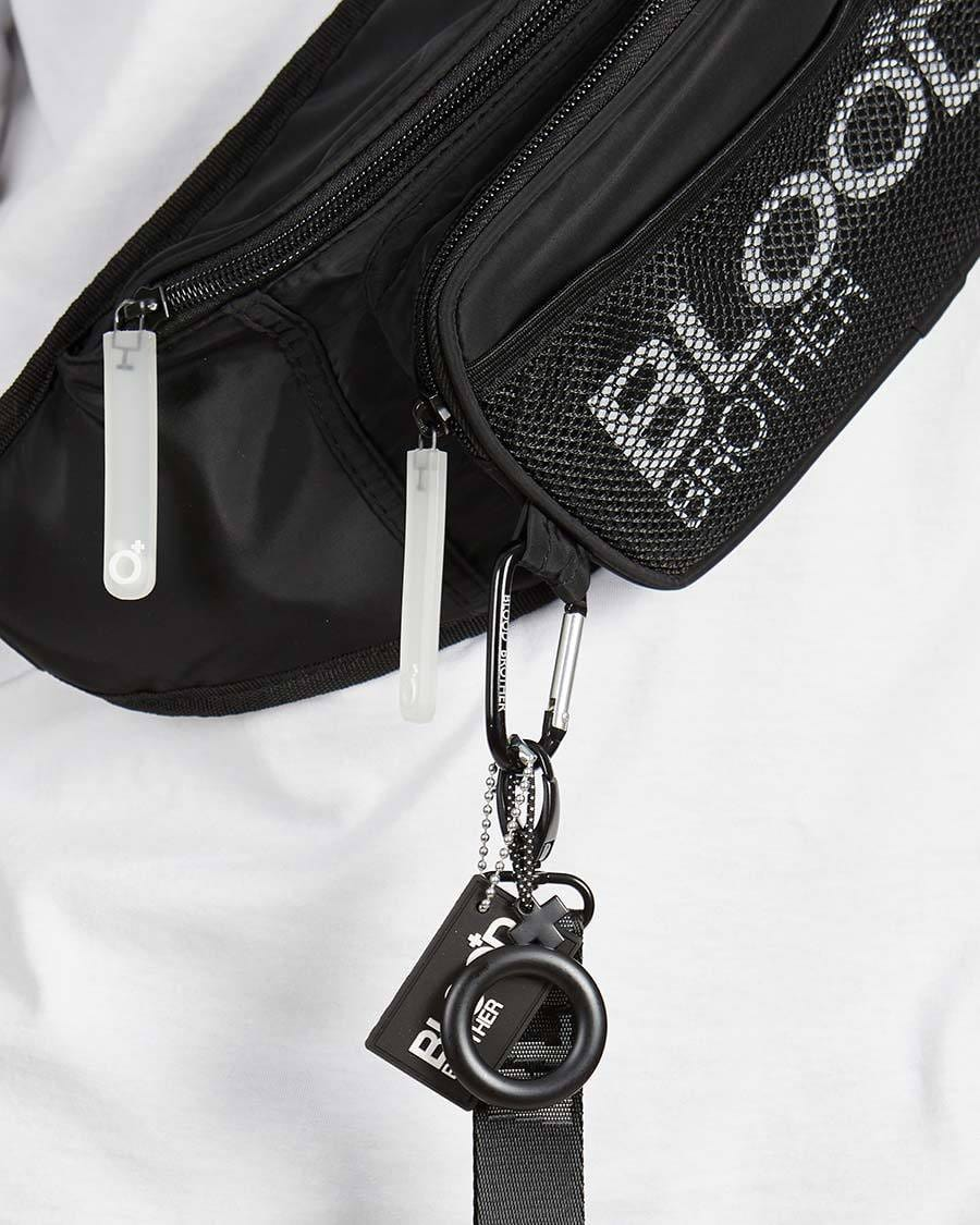 Flow Cross Body Bag in Black - Blood Brother