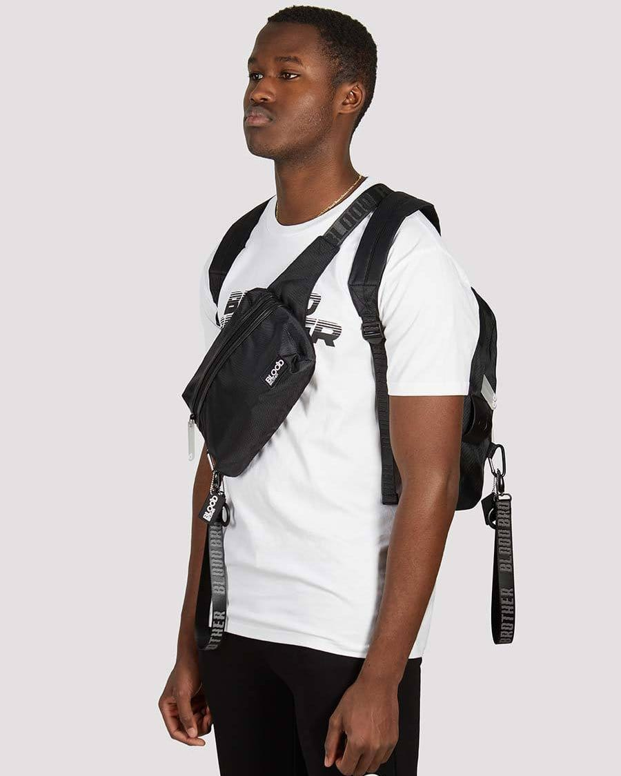 MPH Backpack with Hip Bag in Black
