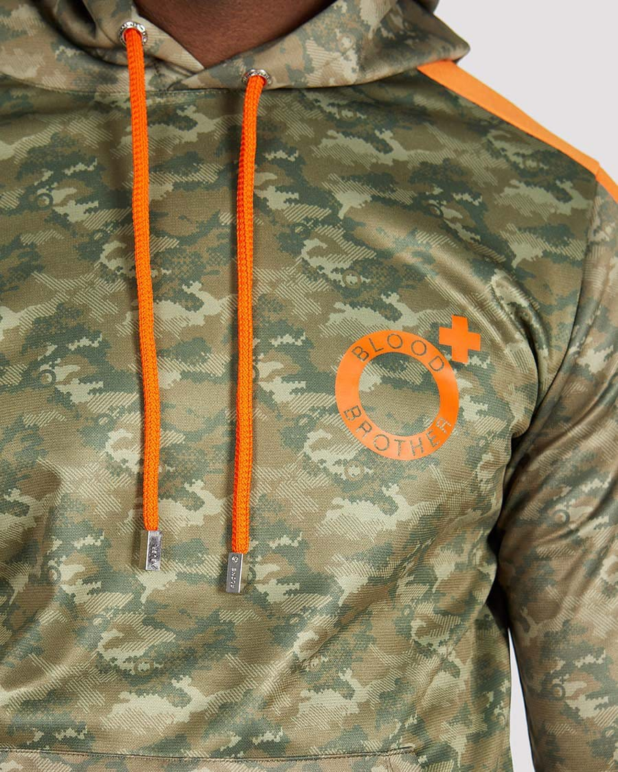 Corman Hoodie in Camo Orange