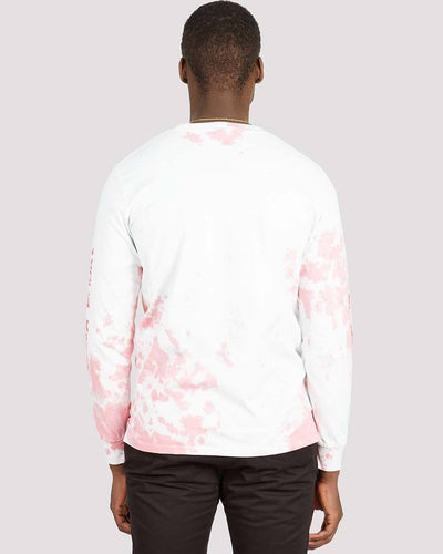 Trip Long Sleeve Tee in White Mint Rose