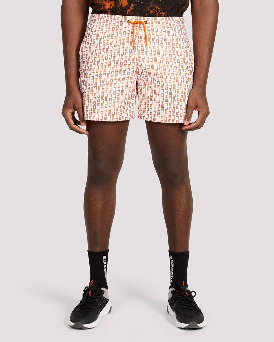 Duke Shorts in White Orange