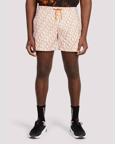 Duke Shorts in White Orange - Blood Brother