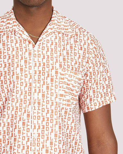 Raoul Shirt in White Orange