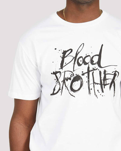 Deadman T-shirt in White - Blood Brother