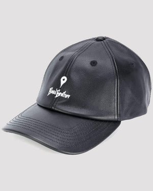Pin Point Leather Cap