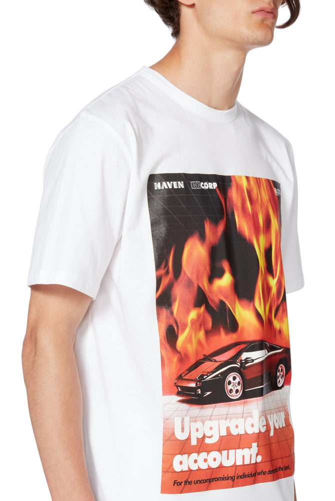 Flames T-Shirt in White