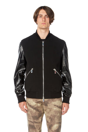 Glitch Leather Jacket in Black