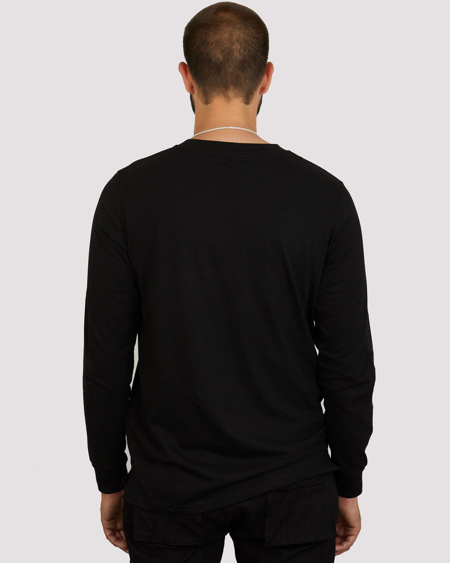 Garnet Long Sleeve T-shirt in Black - Blood Brother