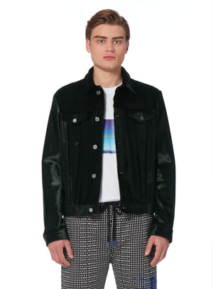 Turbo Leather Jacket In Green