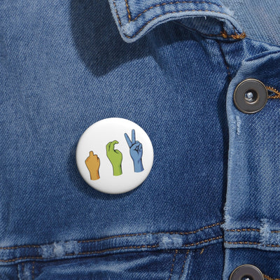 Peace Sign Pin Buttons