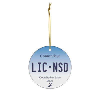 Connecticut License Plate 2020 Holiday Ornament
