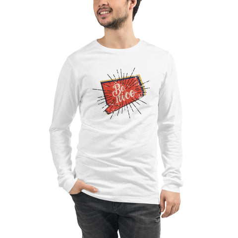 Men's Be Nice Long Sleeve Tee