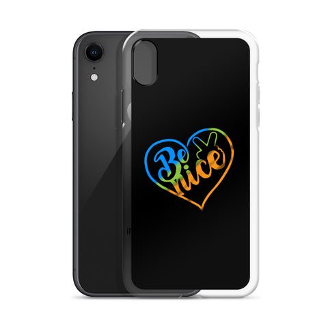 Peace, Love, Be Nice iPhone Case