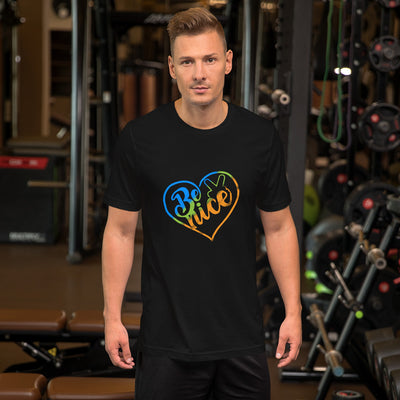 Peace, Love, Be Nice Men's T-Shirt