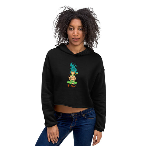 Meditation, Music & Kindess Ladies' Crop Hoodie