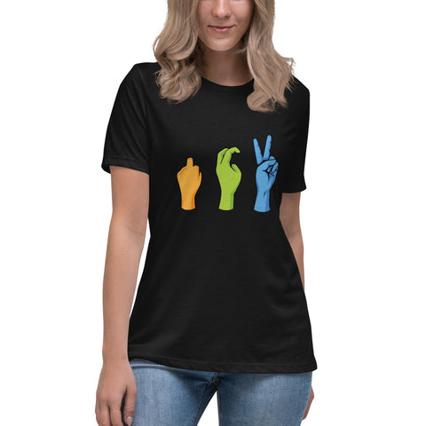 Women's Peace Sign Relaxed T-Shirt