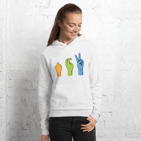 Women's Peace Sign Pullover Hoodie