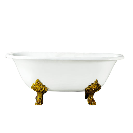 "Dawson 61"" Cast Iron Double Roll Top Tub"