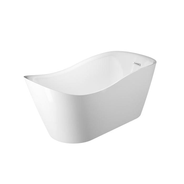 "Raelene 65"" Acrylic Tub with Integral Drain and Overflow"