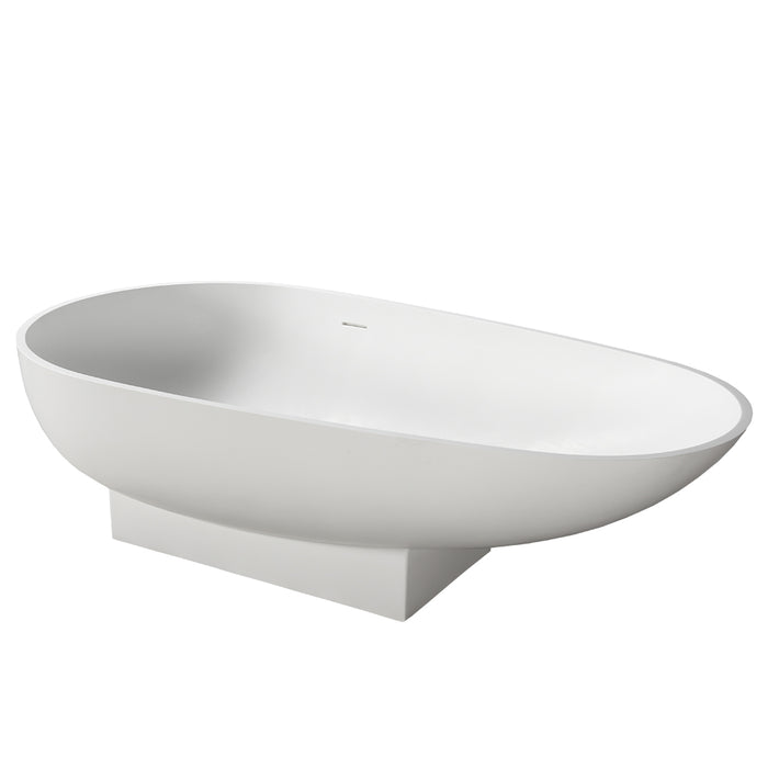"Carlyle 70"" Resin Oval Tub"
