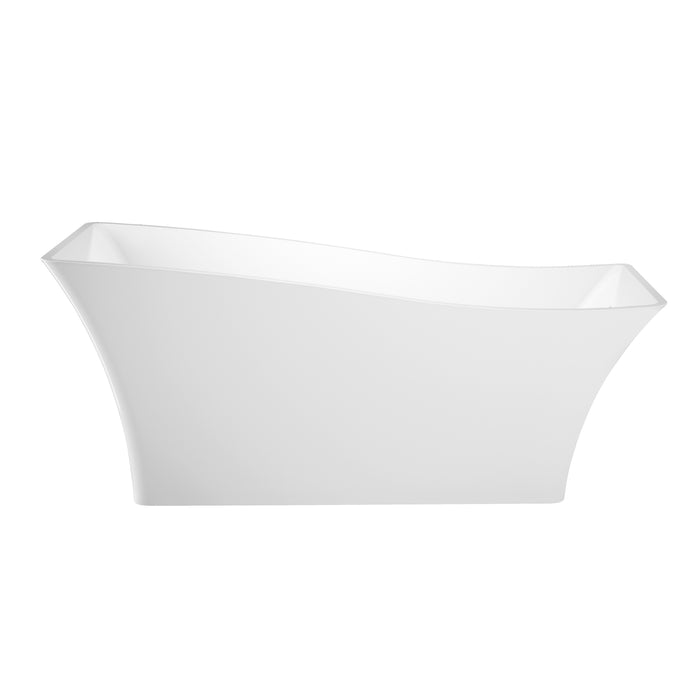"Melanie 68"" Acrylic Slipper Tub with Integral Drain and Overflow"