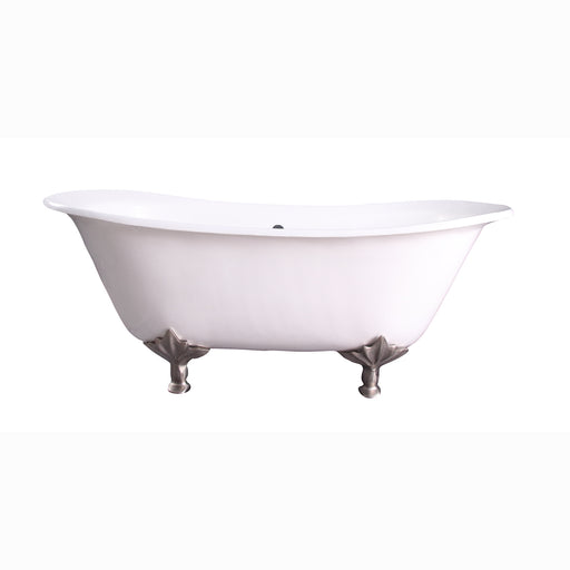 "Maxmillian 67"" Cast Iron Double Slipper Tub"