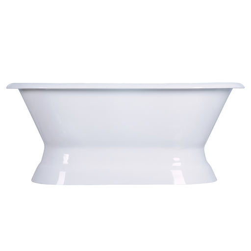 "Cromwell 66"" Cast Iron Double Roll Top Tub on Base"