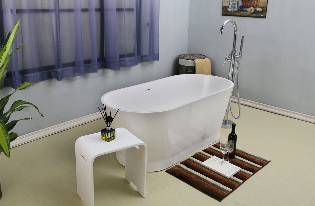"Orfeo 59"" Resin Freestanding Tub"