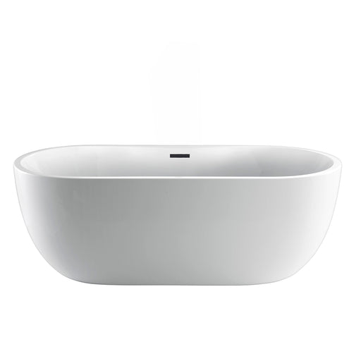"Pilar 65"" Acrylic Freestanding Tub with Integral Drain and Overflow"
