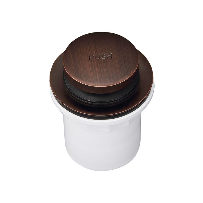 Push Button Tub Drain with PVC Adapter