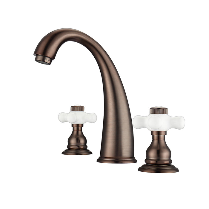 Maddox Widespread Lavatory Faucet with Porcelain Cross Handles