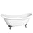 "Meilyn 63"" Acrylic Double Slipper Tub"