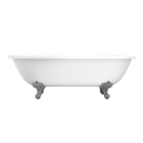 "Collier 70"" Acrylic Double Roll Top Tub"