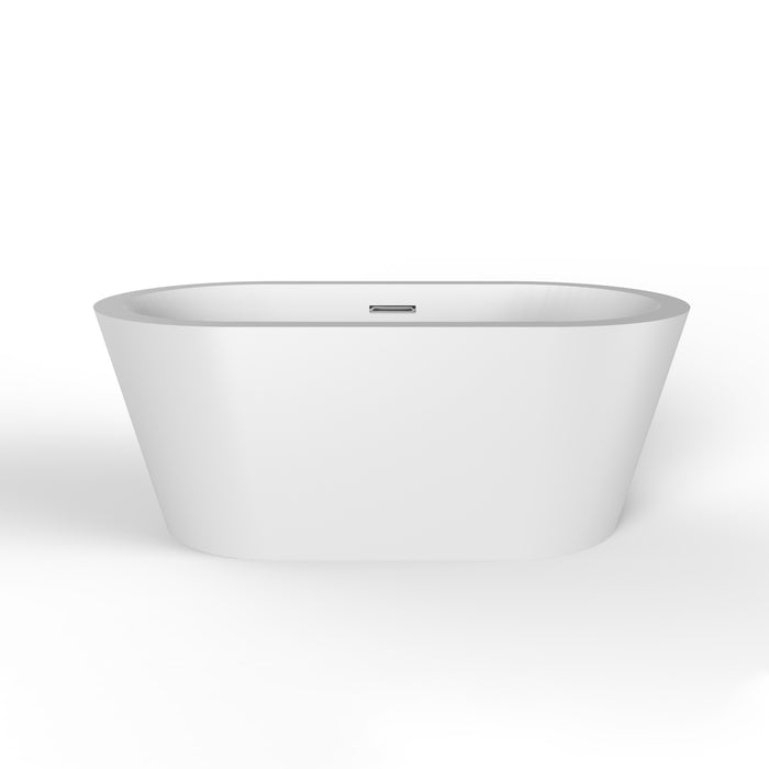"Orlando 59"" Acrylic Tub with Integral Drain and Overflow"