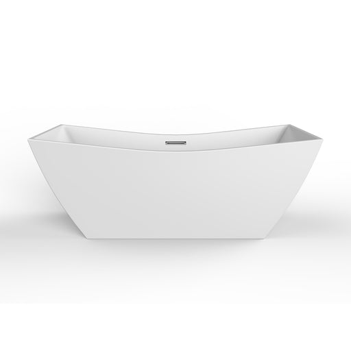 "Tairo 67"" Acrylic Tub with Integral Drain and Overflow"