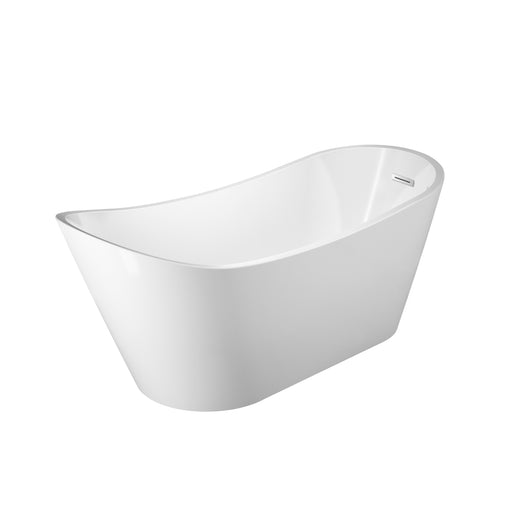 "Malinda 65"" Acrylic Slipper Tub with Integral Drain and Overflow"