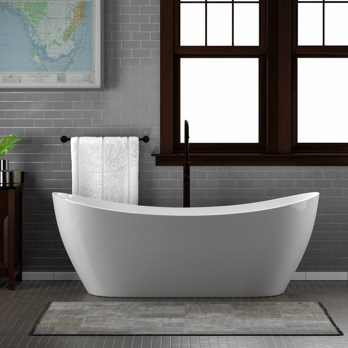 "Nyx 72"" Acrylic Double Slipper Tub"