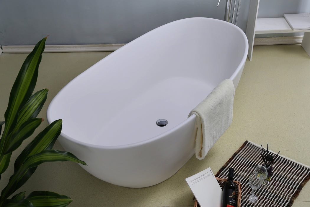 "Electra 64"" Resin Freestanding Tub"