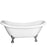 "Meryl 63"" Acrylic Double Slipper Tub"