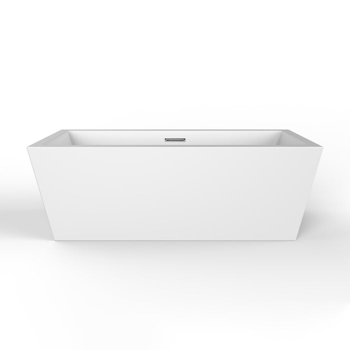 "Stannard 67"" Acrylic Tub with Integrated Drain and Overflow"