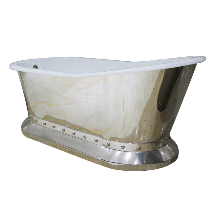 "Lionel 67"" Cast Iron Slipper Tub on Base"