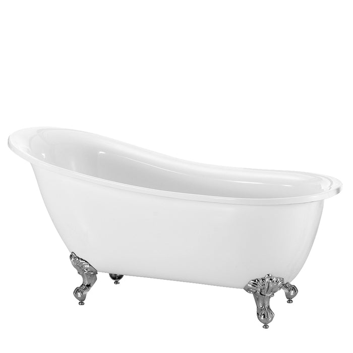 "Dorchester 55"" Acrylic Slipper Tub"