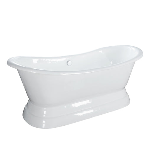 "Randall 72"" Cast Iron Double Slipper Tub with Base"