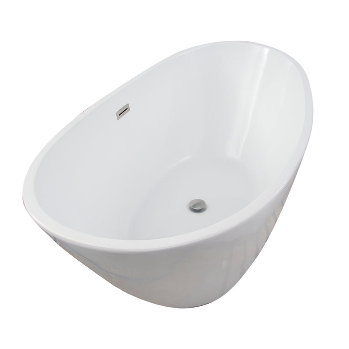 "Nickelby 68"" Acrylic Double Slipper Tub with Integral Drain and Overflow"