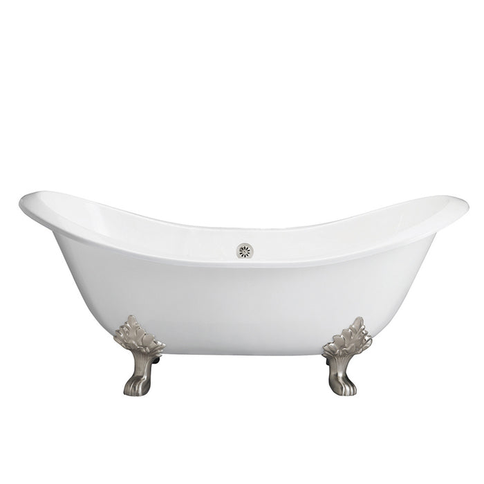 "Marshall 71"" Cast Iron Double Slipper Tub"