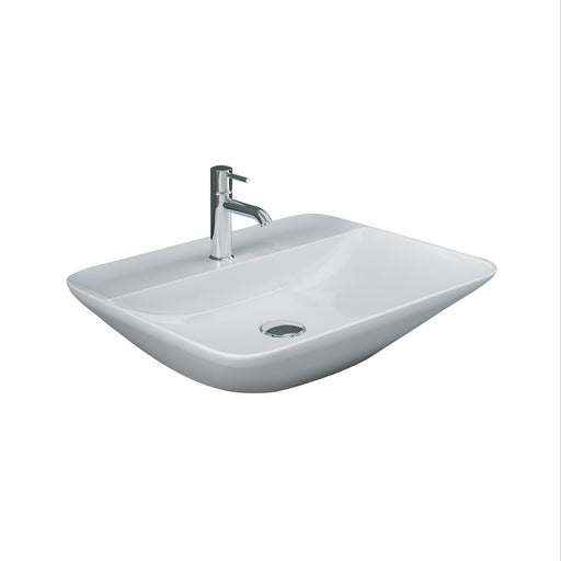Variant Above Counter Basin with Faucet Hole